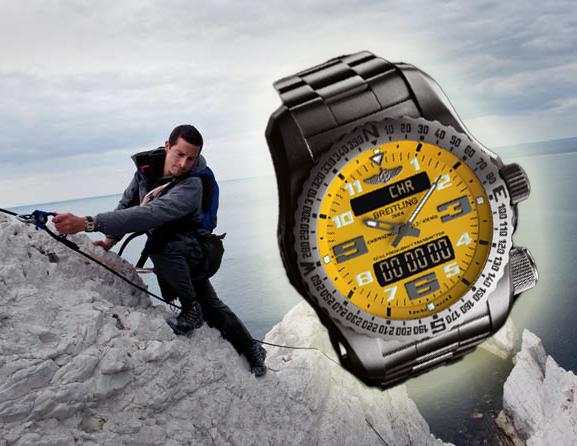 Een avonturier Bear Grylls stijl replica Breitling horloge, nep Breitling, Breitling replica, replica horloges, Breitling Emergency Breitling Bear Grylls