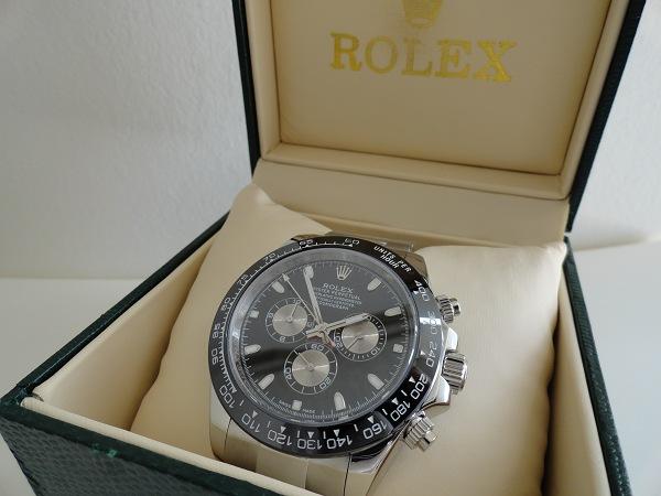 Rolex Daytona Replica Horloge Zwarte Wijzerplaat