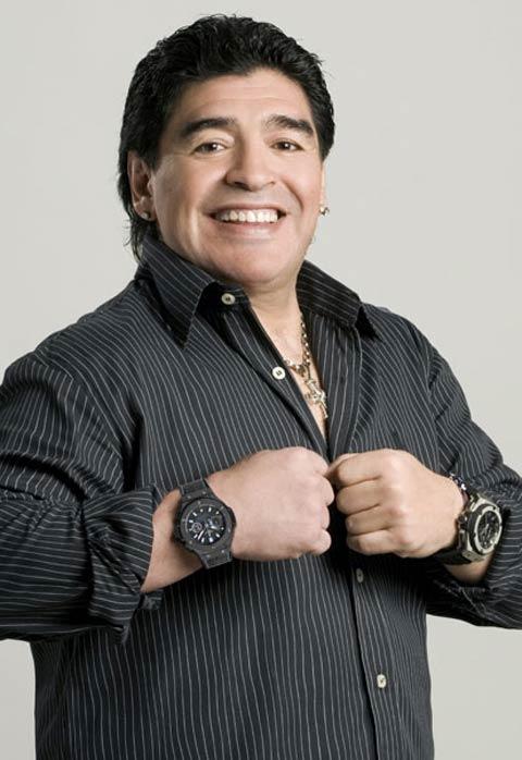 Maradona Met Een Hublot Horloge